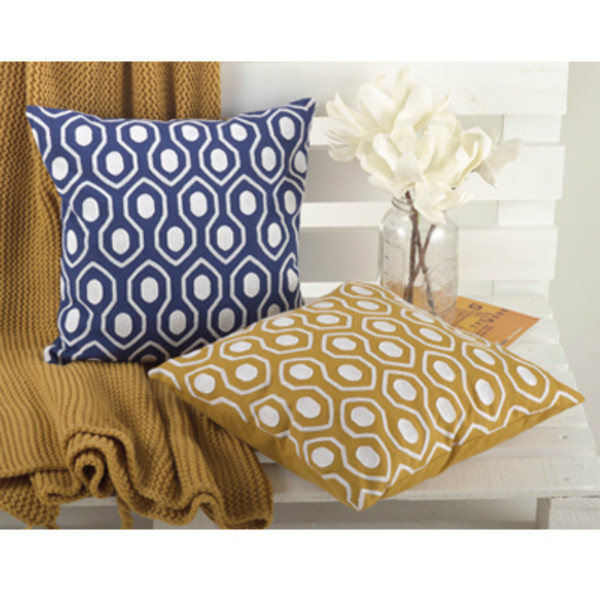 Moroccan Tile Design Down Filled Decorative Throw Pillow