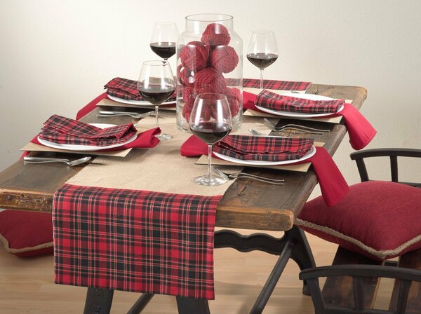 Newcastle Collection Holiday Décor Tartan Plaid Table Runner