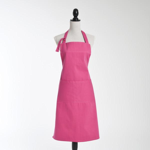 Solid Vivid Colors Denim Cotton Kitchen Apron, 7 Colors