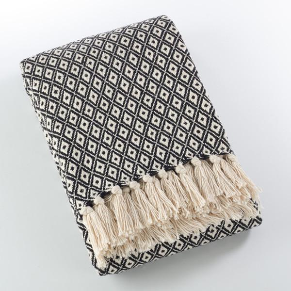 Fennco Styles Sevan Collection Soft Cotton Diamond Weave Throw Blanket