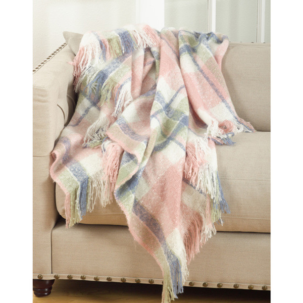 Fennco Styles Sevan Collection Faux Mohair Design Throw Blanket