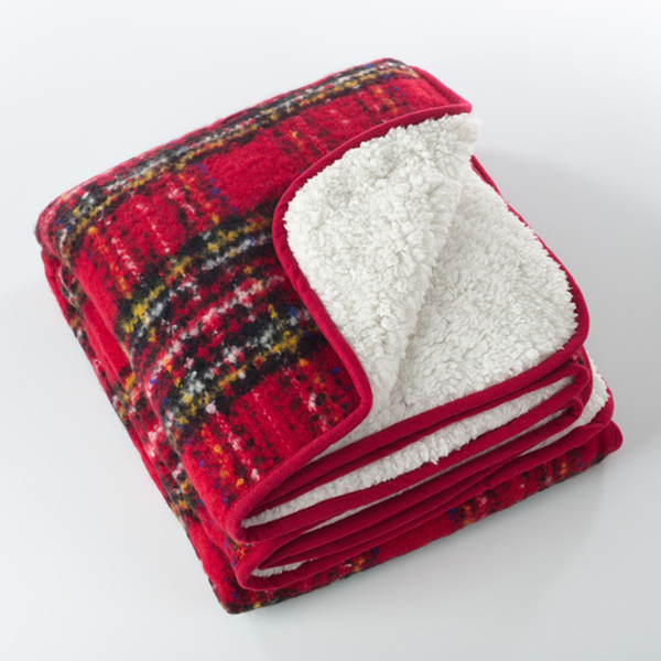 Fennco Styles Sevan Collection Faux Mohair Design Sherpa Throw Blanket