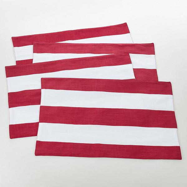 "Saint John Collection Striped Design Cotton Table Runner - 16""x72"" Navy Blue"
