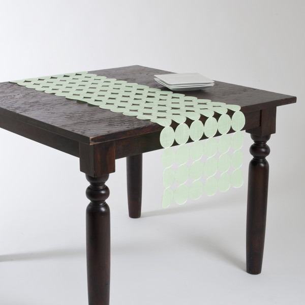 Embroidered and Cutwork Circle Design Table Runner