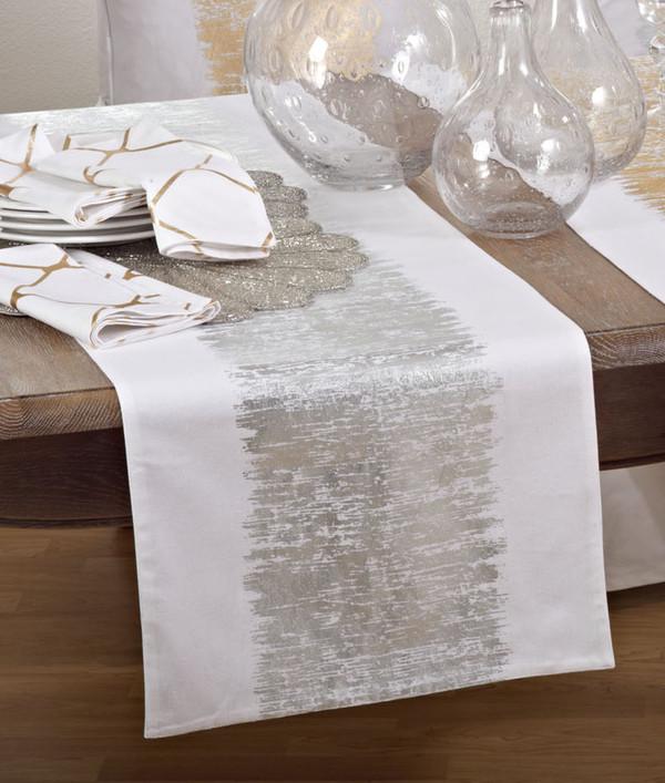 Fennco Styles Agatha Metallic Banded Cotton Collection
