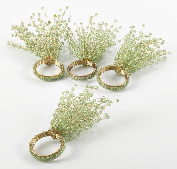 Fennco Styles Beaded Design Napkin Ring - Set of 4