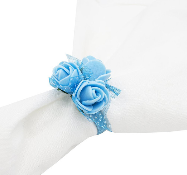 Fennco Styles Handmade Lovely Rose Napkin Ring - Set of 4