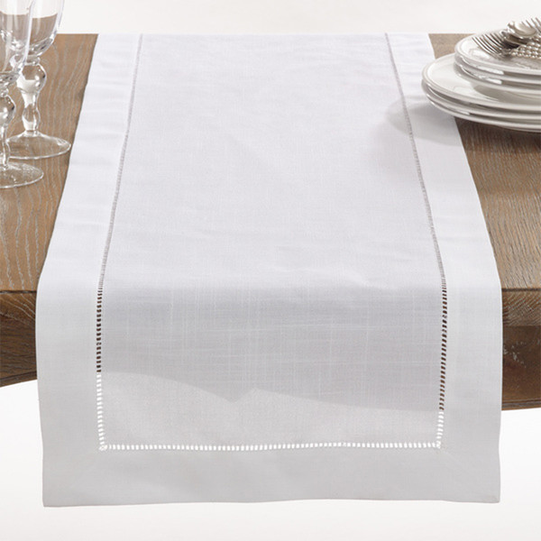 Fennco Styles Rochester Collection with Hemstitched Border Table Runner