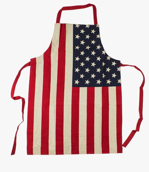 Fennco Styles American Flag Design Cooking Apron Creative Kitchen Apron