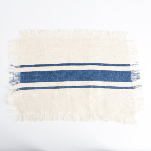 Fennco Styles Jute Striped and Fringed Design Collection