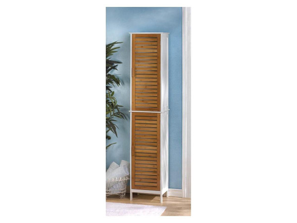Fennco Styles Home Bamboo Tall Storage Cabinet
