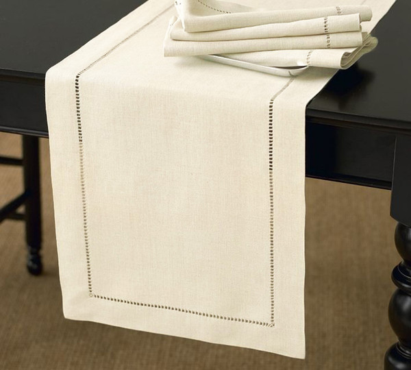 Handmade Basic Hemstitch Table Runner
