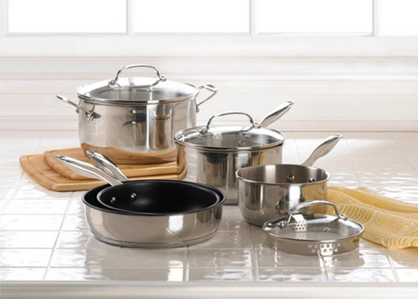 Fennco Styles 8 pcs Stainless Steel Cookware Set