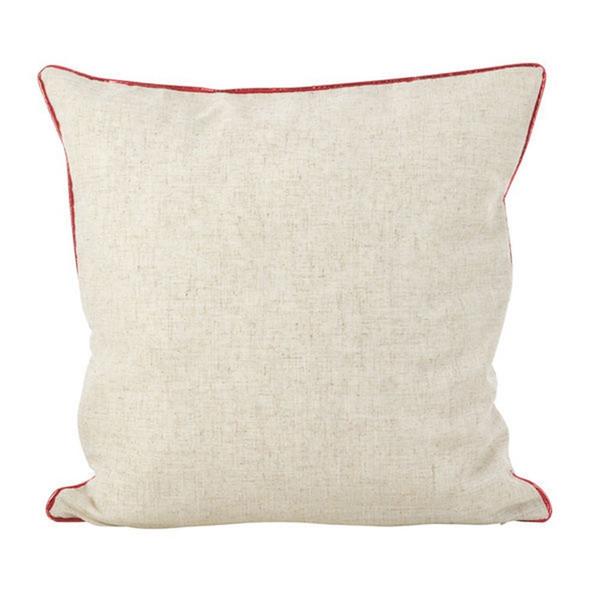 Fennco Styles Metallic Poinsettia Flower Design Holiday Poly Filled Throw Pillow
