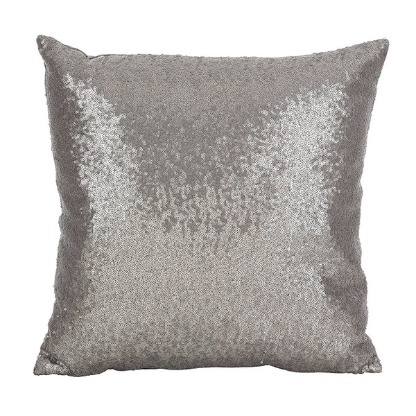"Fennco Styles Shimmering Sequin Design Poly Filled Pillow 18"" Square"