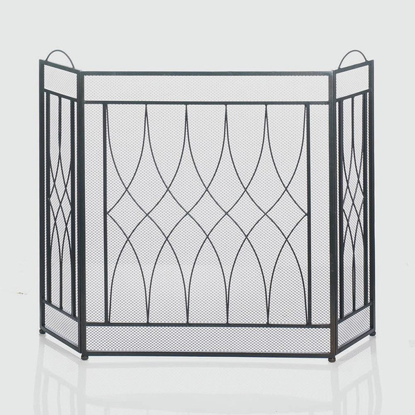 Fennco Styles Alpine Geometric Decorative Fireplace Screen