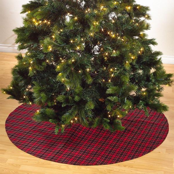 Fennco Styles Highland Plaid Design Christmas Tree Skirt