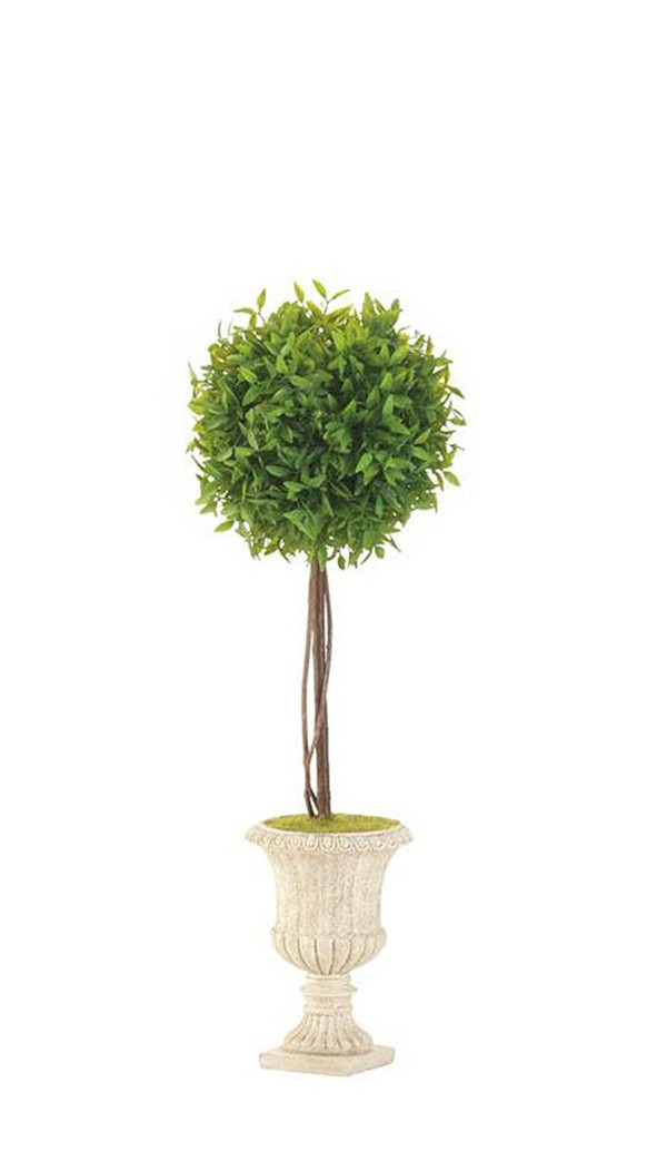 Fennco Styles Decoration Topiary In White Planter-3 Sizes