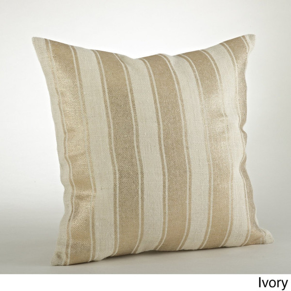 "Fennco Styles Home Décor Foil Collection Design Burlap Pillows - 20"" Square"