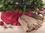 Holiday Décor Ruffle Trim Jute Burlap Xmas Tree Skirt