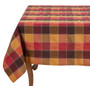 "Fennco Styles Holiday Thanksgiving Stitched Plaid Table 70"" x 70"" Square Tablecloth"