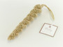 Handmade Spiral Jute Holiday Icicles Christmas Tree Ornaments, Set of 2