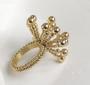 Fennco Styles Elegant Flower Design Napkin Ring, Set of 4, 2 Colors