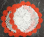 Fennco Styles Handmade Two Tone Floral Crochet Tray Cloth Doily, 9-inch Round, 2 Pieces, 11 Colors