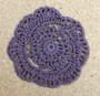 Fennco Styles Handmade Floral Cotton Coaster Doily, 4-piece Set, Many Colors