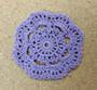 Handmade Floral Cotton Coaster Doily, 4-piece Set, Many Colors