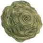 Fennco Styles Hayley Rose Chiffon Decorative Throw Pillow, Filler Included