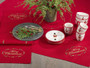 Fennco Styles Merry Christmas Embroidered Design Holiday Table Topper Tablecloth/ Runner