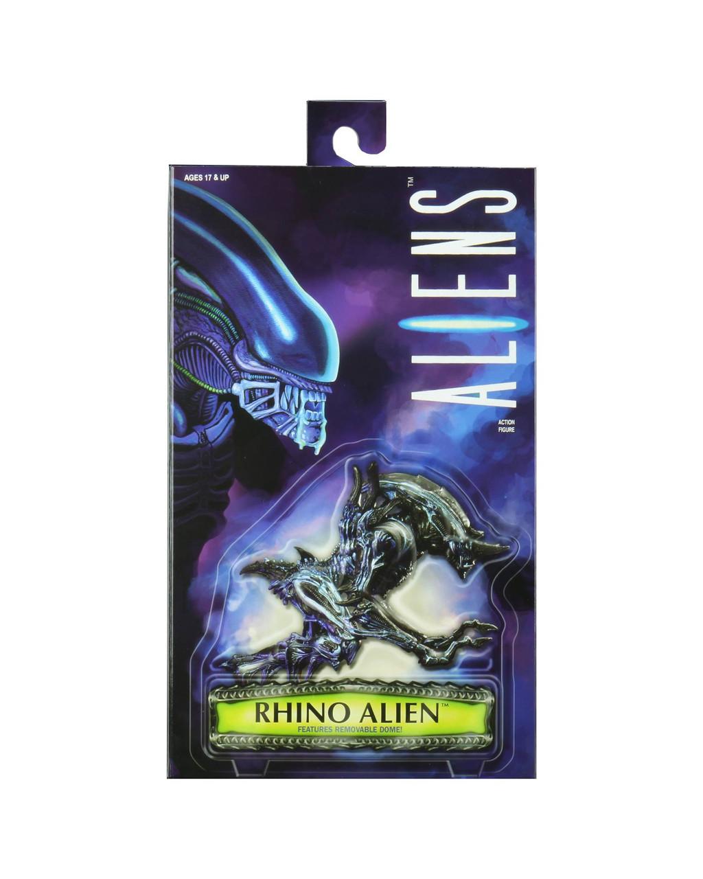 "NECA - Aliens - 7"" Scale Action Figure - Kenner Tribute Series Rhino Alien Version 2"