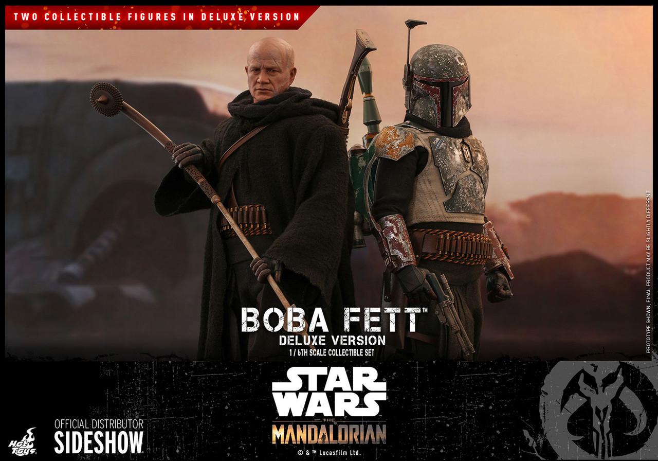 1//6 Scale Toy Star Wars x4 Grey Gloved Hand Set Boba Fett