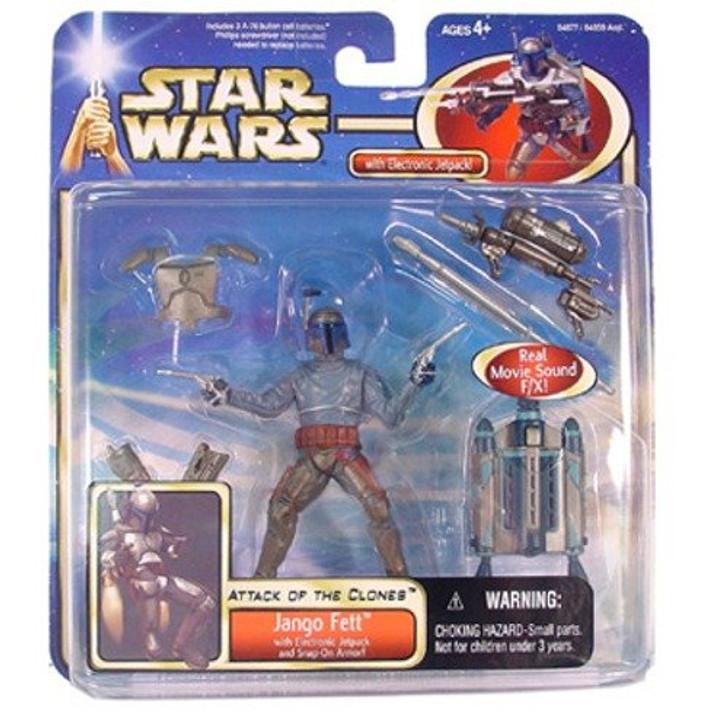 Hasbro Star Wars AOTC Jango Fett Electronic Jetpack Action Figure