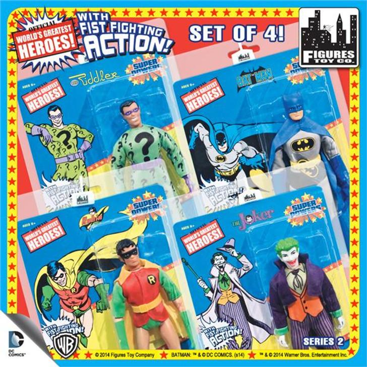 """DC Comics Super Powers Retro Action 8"""" Action Figure Series 2 Set of 4"""