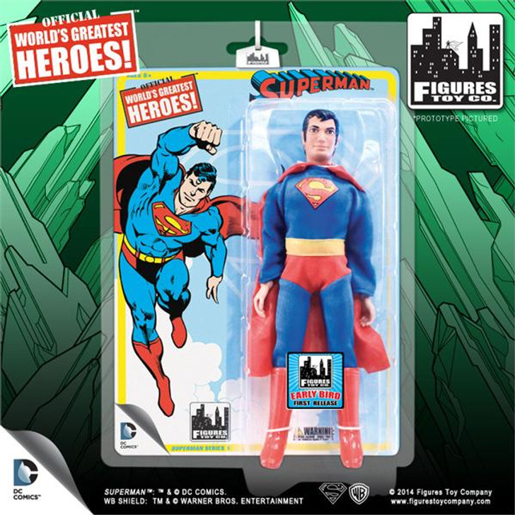Figures Toy co. Superman Retro 8in Early Bird Action Figure