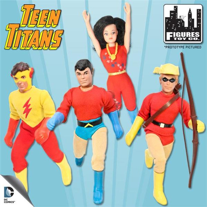 Figures Toy Co. DC Teen Titans Retro 8in set of 4
