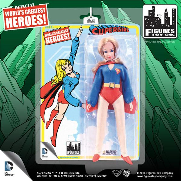 "Figures Toy Co. DC Comics 8"" Retro Action Supergirl action figure"