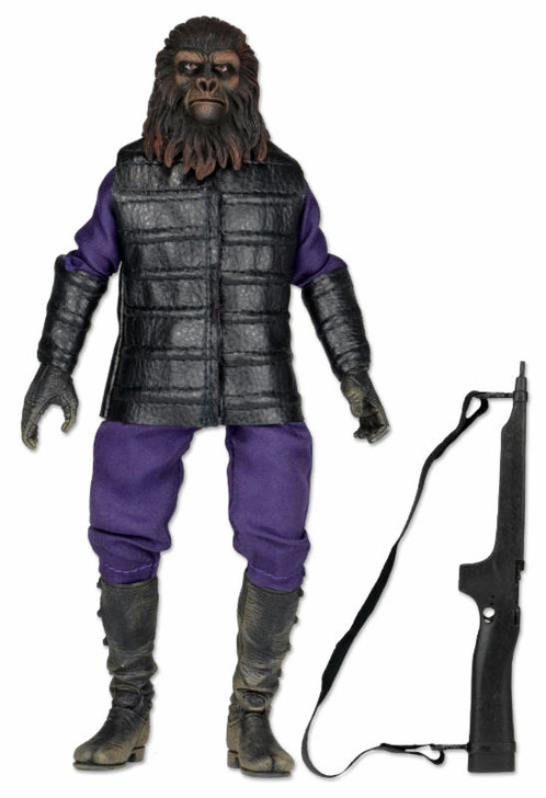 "NECA Planet of the Apes Retro 8"" Action Figure Classic Gorilla Soldier"
