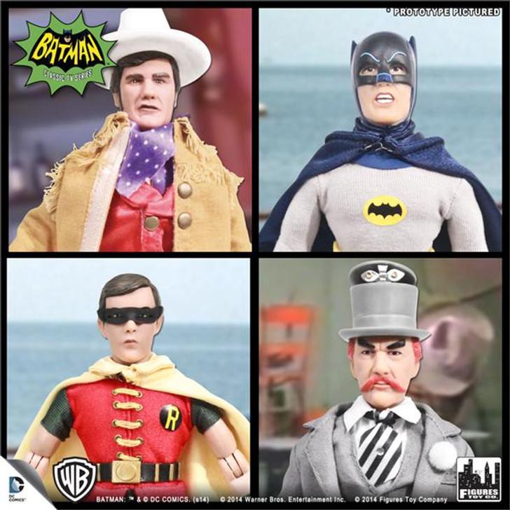 "Batman Retro 8"" 1966 TV Series 3 Set of 4 Action Figures"
