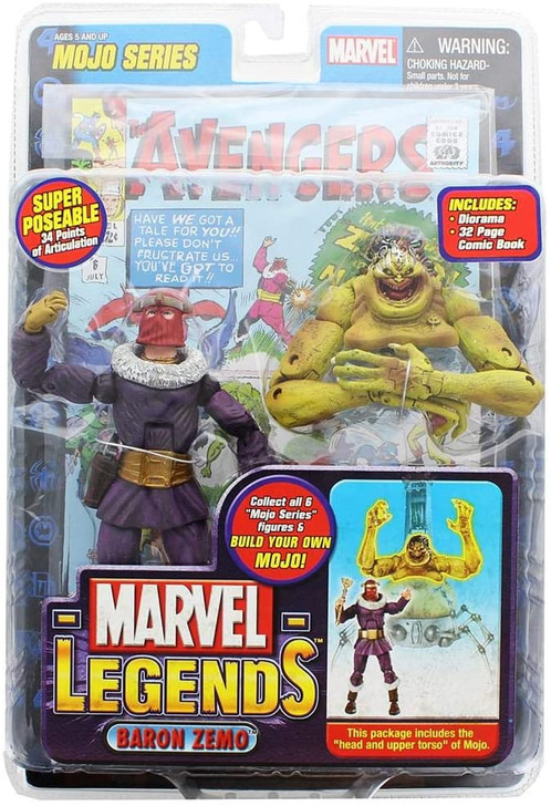 ToyBiz Marvel Legends Baron Zemo Action Figure Mojo BAF Series