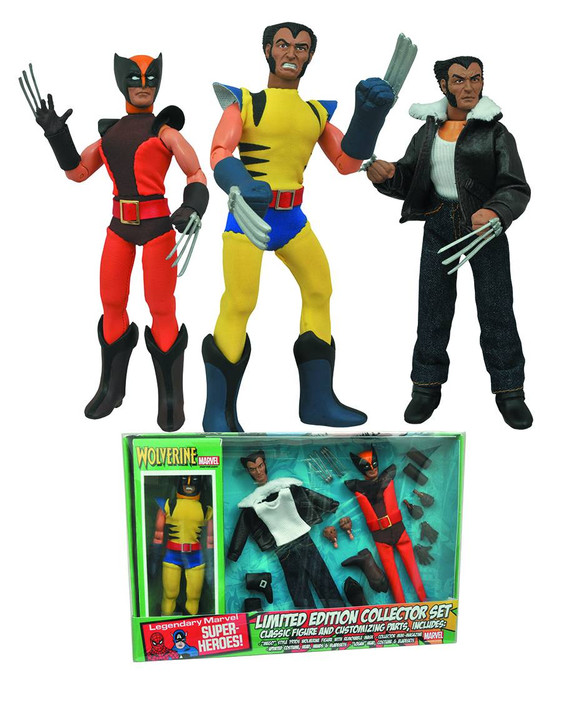 "Marvel Select MEGO 8"" Retro Wolverine Action Figure Set"