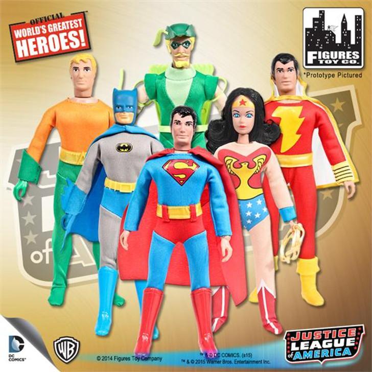 "DC Retro 8"" Justice League Set of 6"