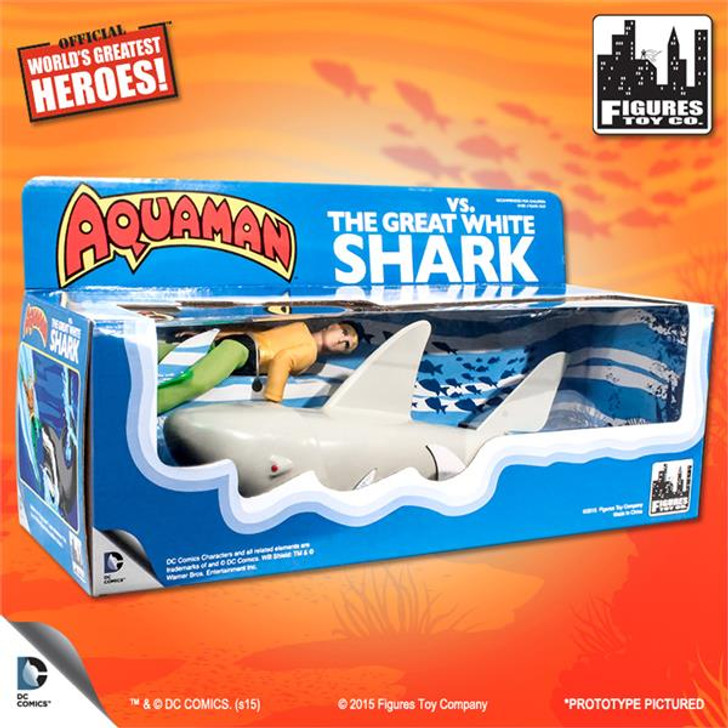 Figures Toy Co. Aquaman VS. The Great White Shark Retro Figure Playset