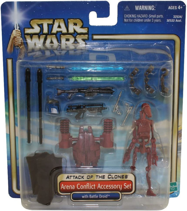 """Hasbro Star Wars """"Arena Conflict"""" Accessory Set with Battle Droid"""