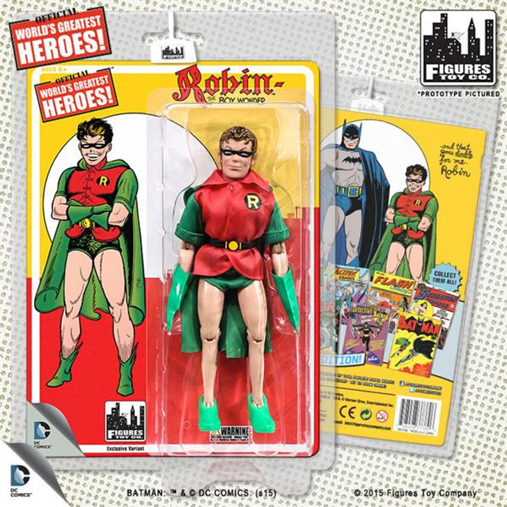 """Figures Toy Co. DC Comics Retro """"First Appearances"""" Robin (Green Cape Variant)"""