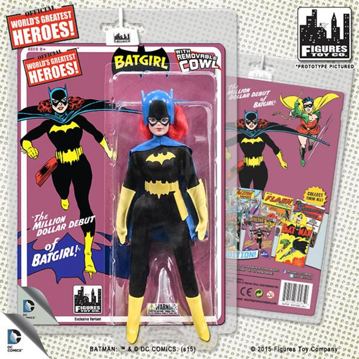 "Figures Toy Co. DC Retro ""First Appearances""  Removable Cowl Batgirl Action Figure"