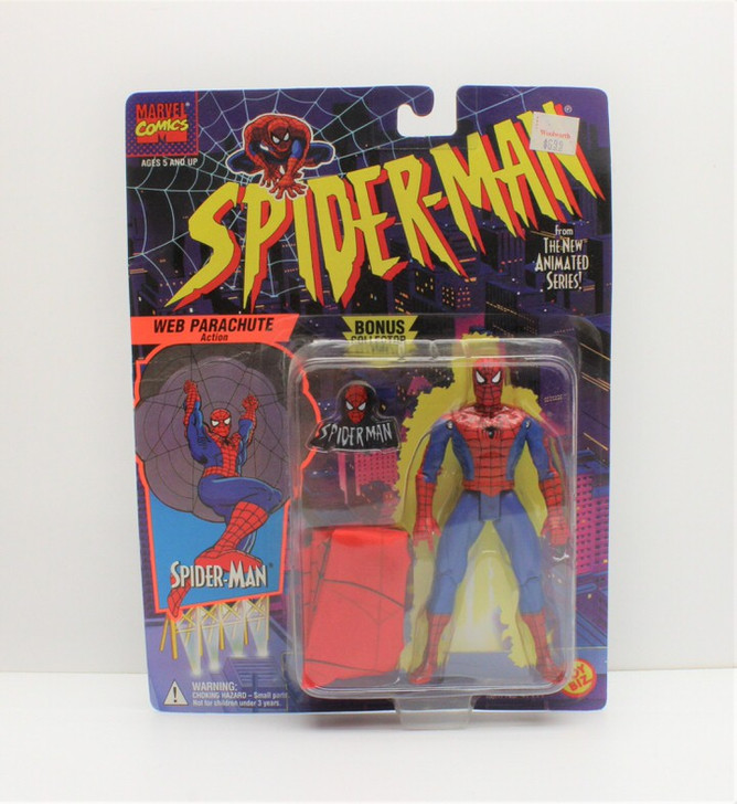 Spider-Man the Animated Series Web Parachute Action Figure