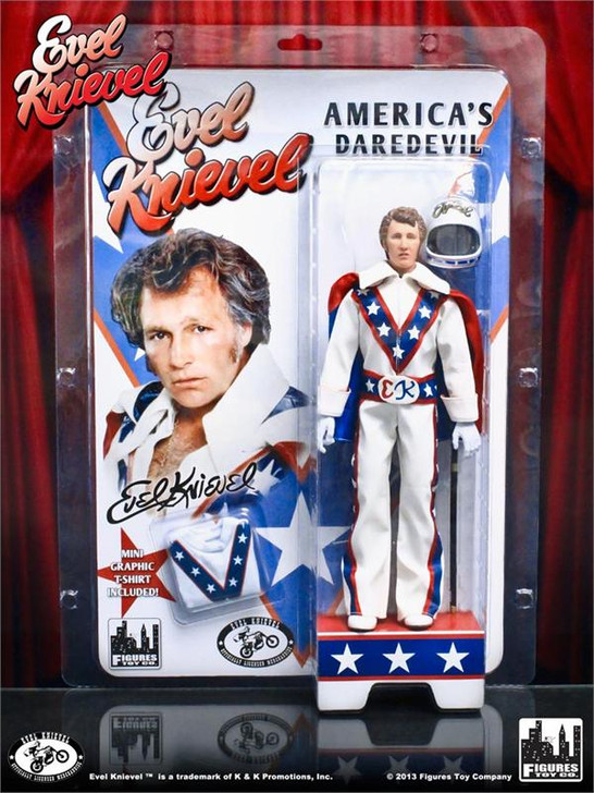 Figures Toy Co. Evel Knievel Retro 8in White Suit Action Figure